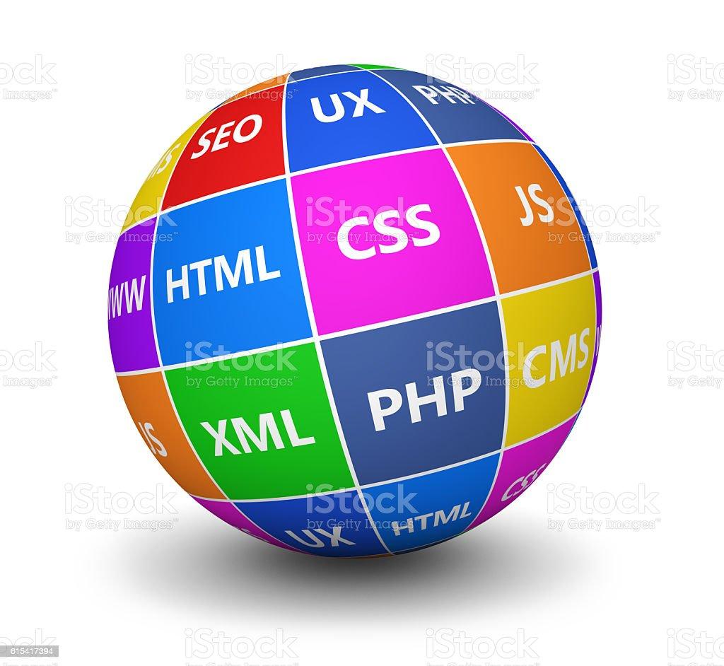 Web Design Concept stock photo