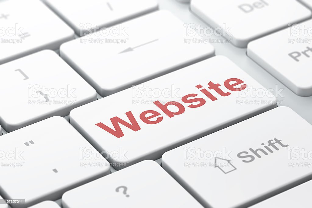 SEO web design concept: Website on computer keyboard background royalty-free stock photo