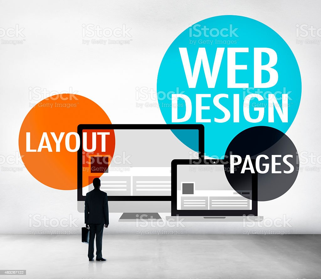 Web Design Content Creative Website Responsive Concept stock photo