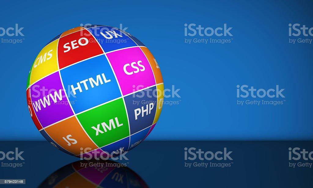 Web Design Development Concept stock photo