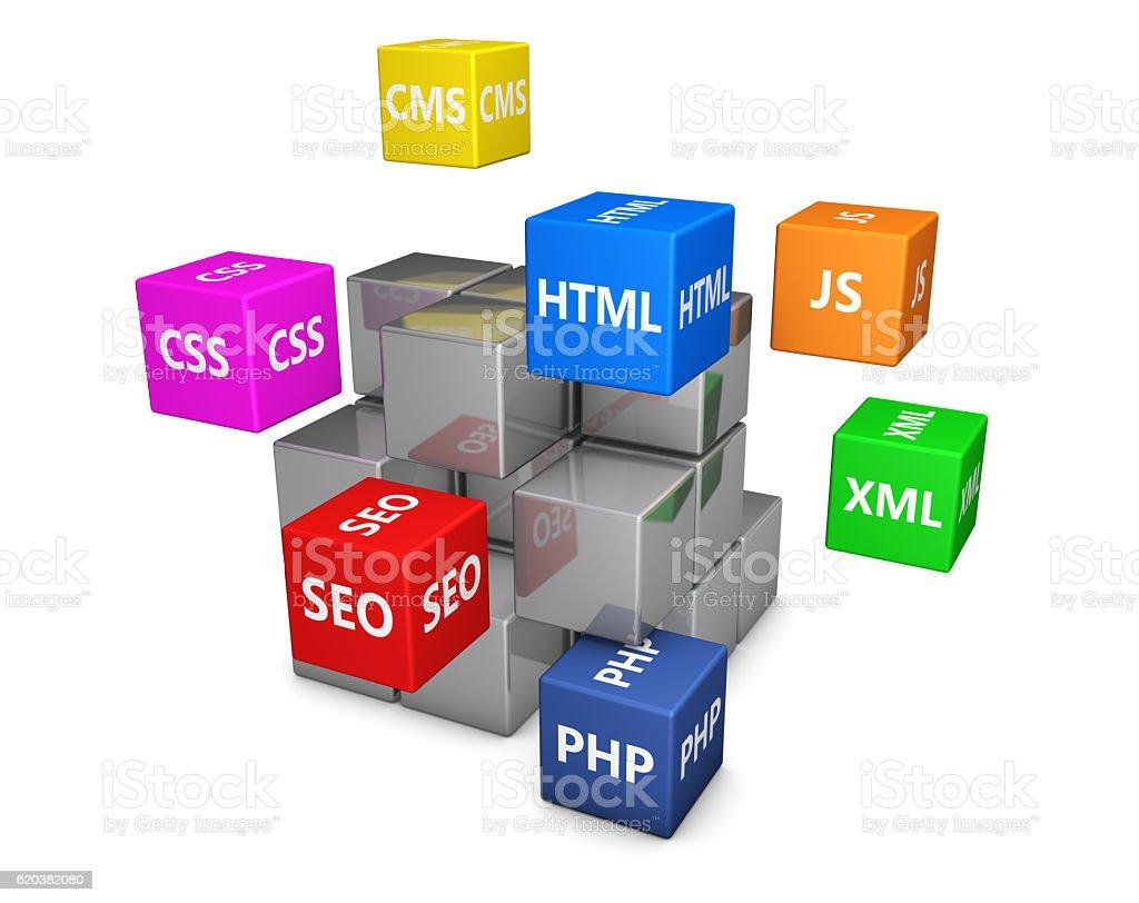 Web Design Development stock photo