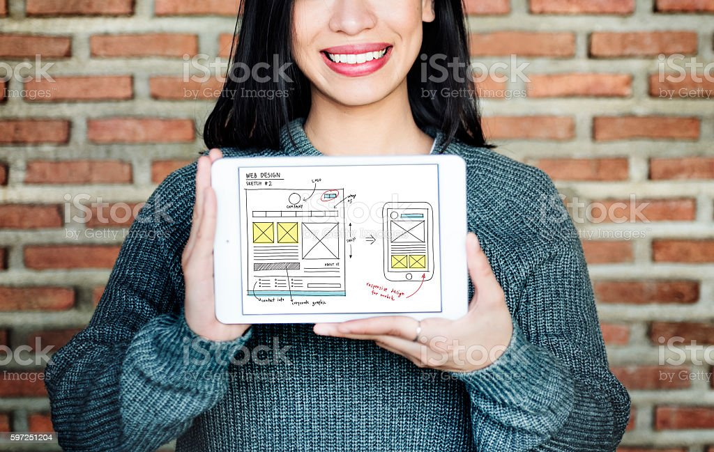 Web Design Online Technology Content Concept stock photo