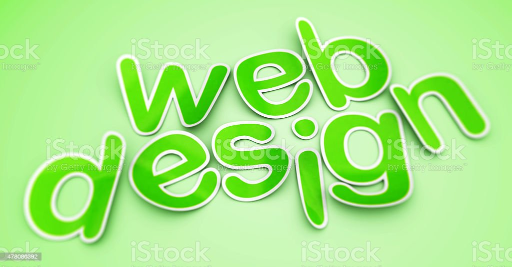 web design - text on the green background. royalty-free stock vector art