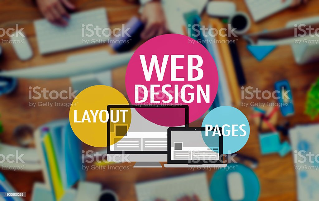 Web Design Website WWW Layout Page Connection Concept stock photo