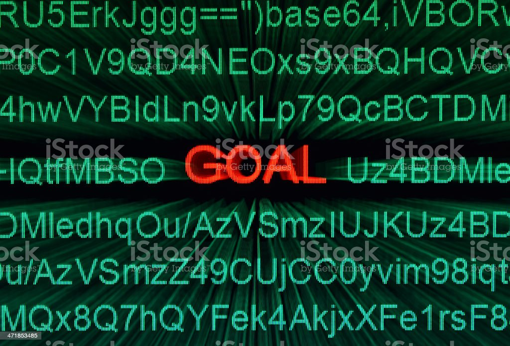 Web goal royalty-free stock photo
