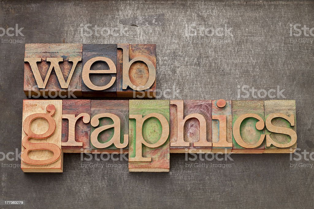 web graphics in wood type royalty-free stock photo