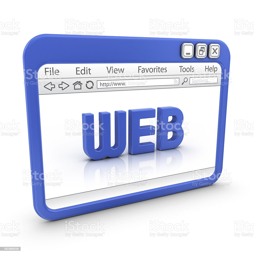 web in browser royalty-free stock photo