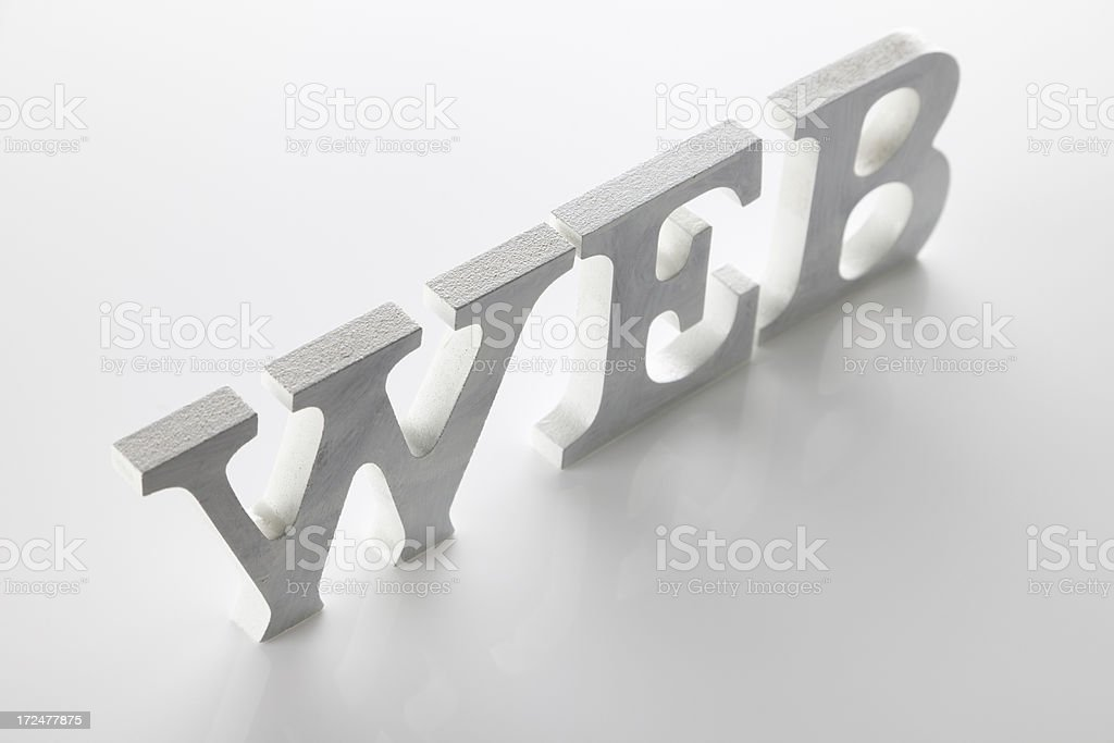 Web In Standing Letters royalty-free stock photo