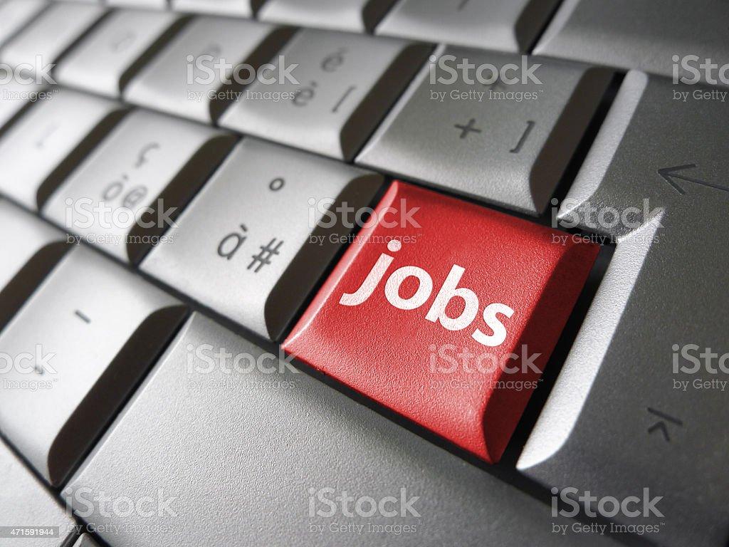 Web Job Search Key stock photo