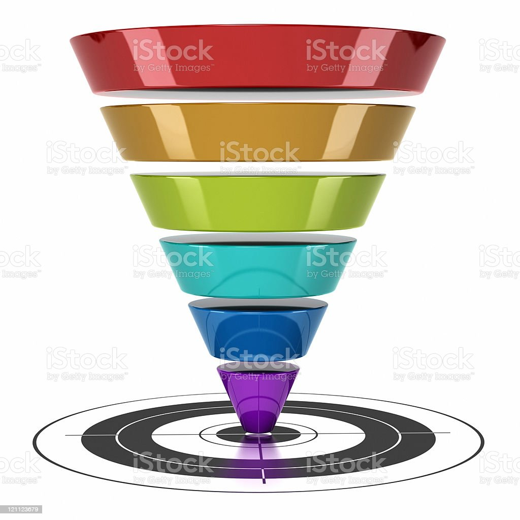 web marketing conversion funnel royalty-free stock photo