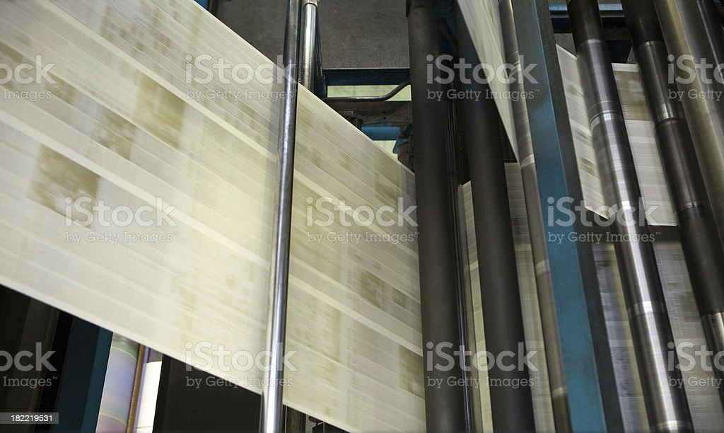 Web Offset Press Printing Today's Newspaper stock photo