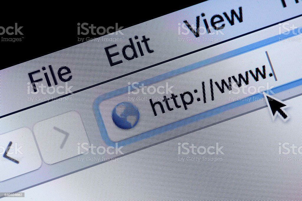 web page access stock photo