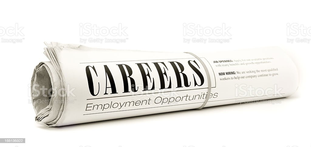 CAREERS: Web Page Header royalty-free stock photo