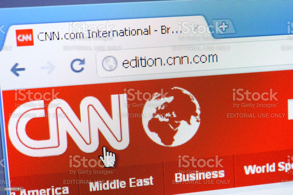 CNN web page on the browser stock photo