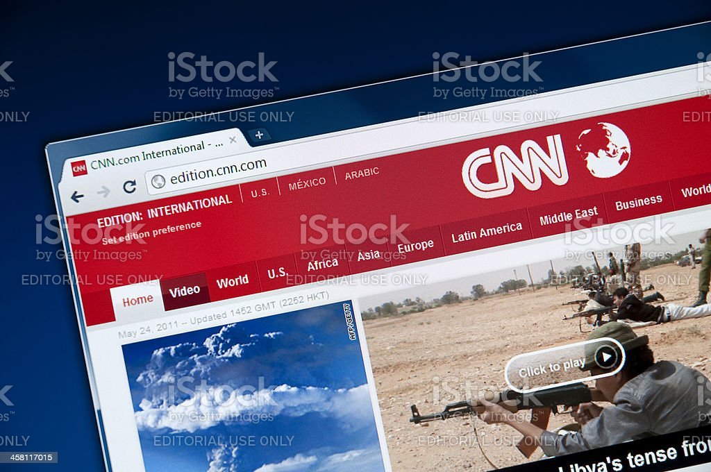 CNN Web page stock photo