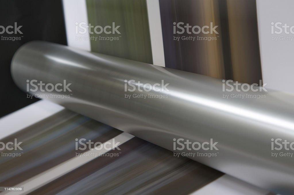 Web Press In Motion... stock photo