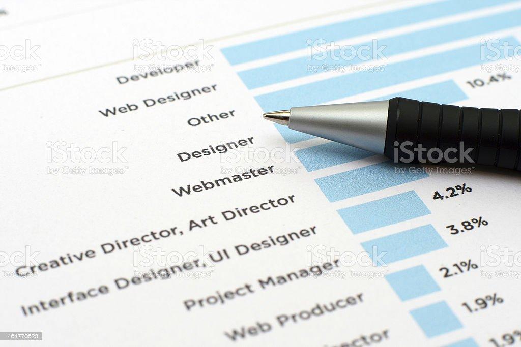 Web professions stock photo