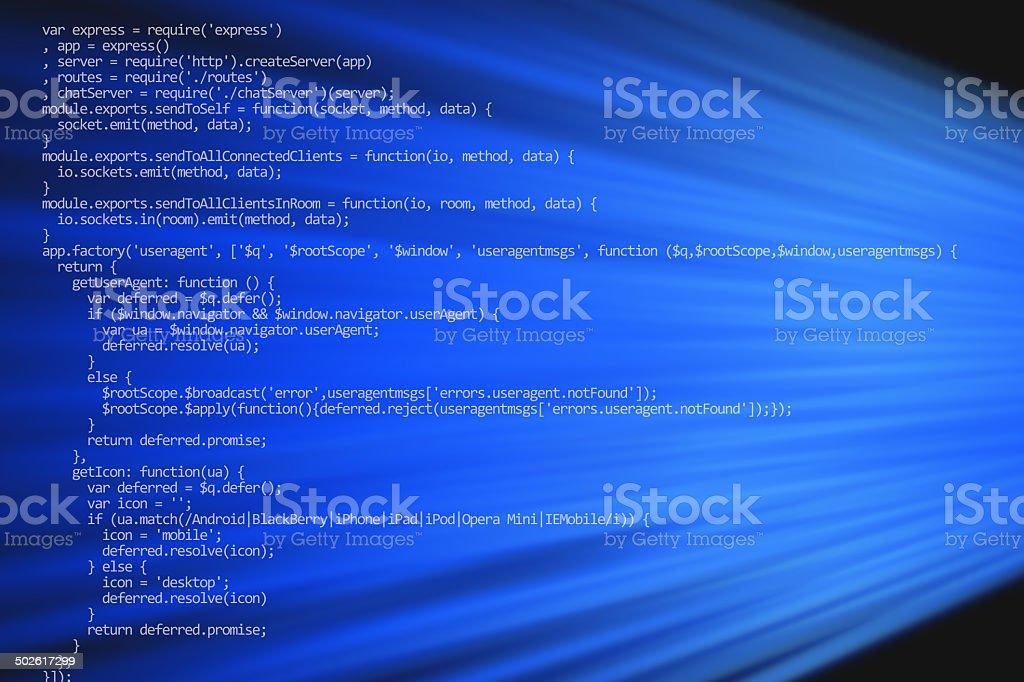 Web programming code royalty-free stock photo