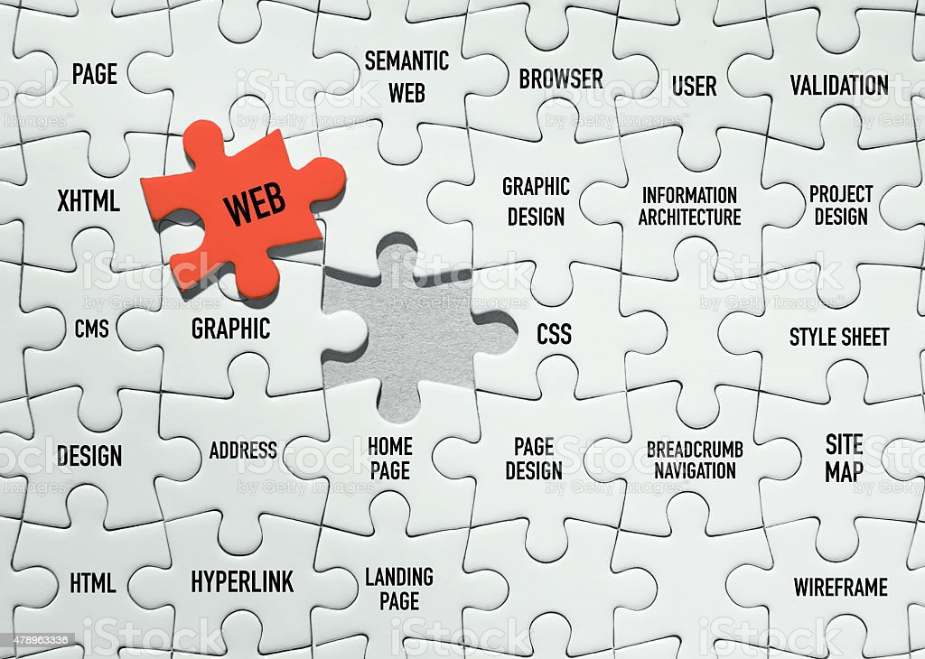 Web Puzzles stock photo