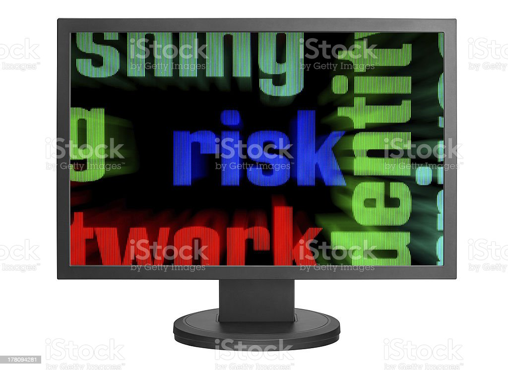 Web risk concept royalty-free stock photo