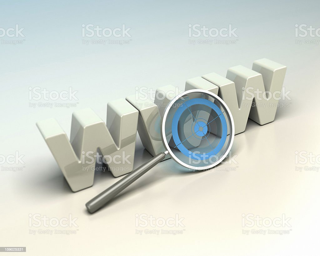 web seeker, search engine concept stock photo