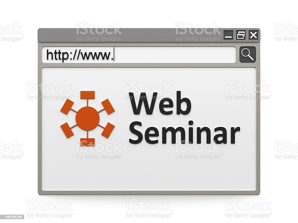 Web seminar royalty-free stock photo