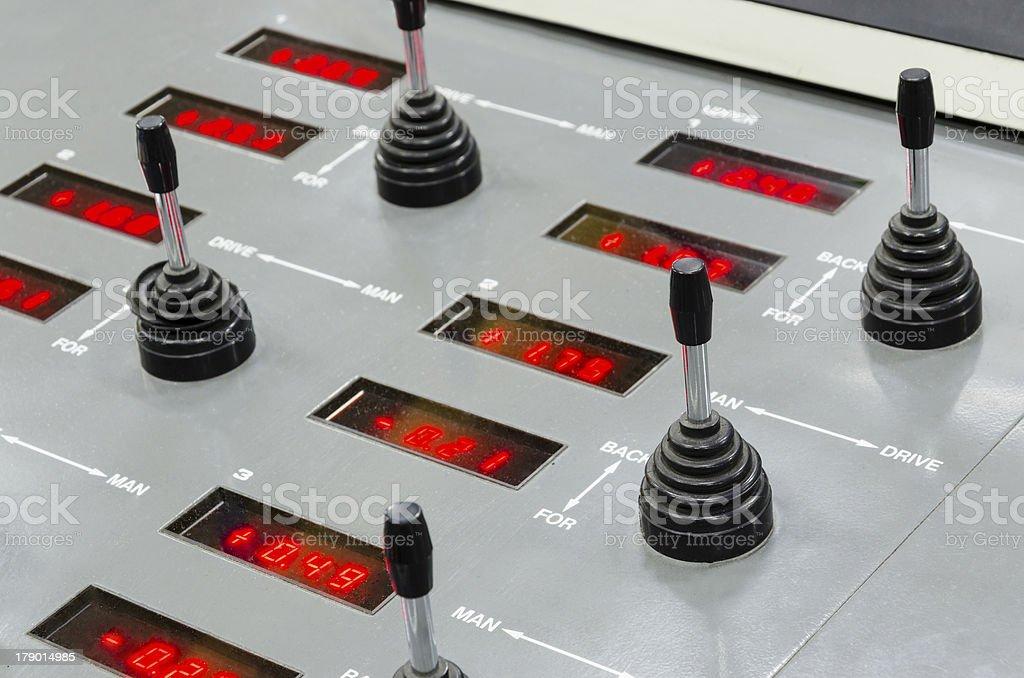 web set offset print machine control panel royalty-free stock photo