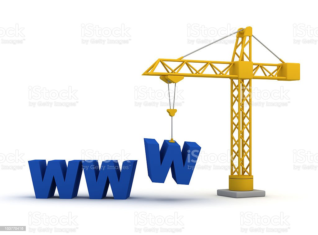 web site under construction royalty-free stock photo