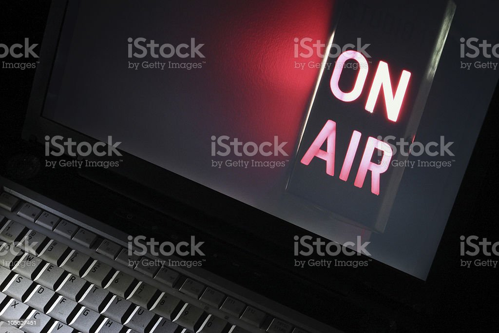 Web Television stock photo