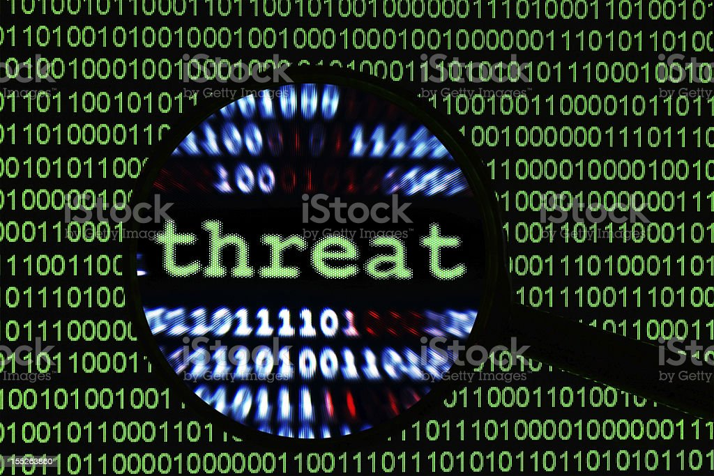 Web threat stock photo