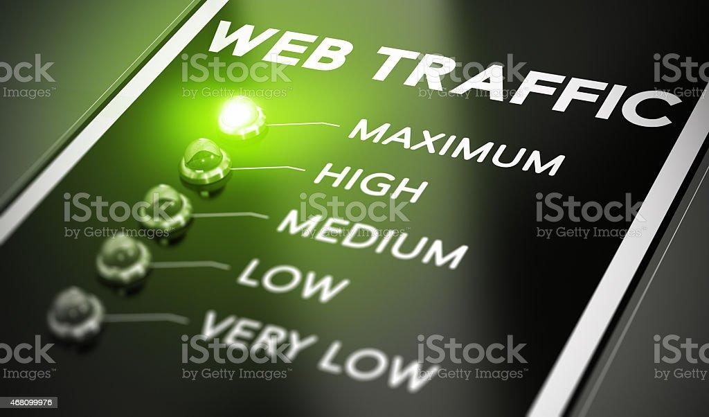 Web Traffic stock photo