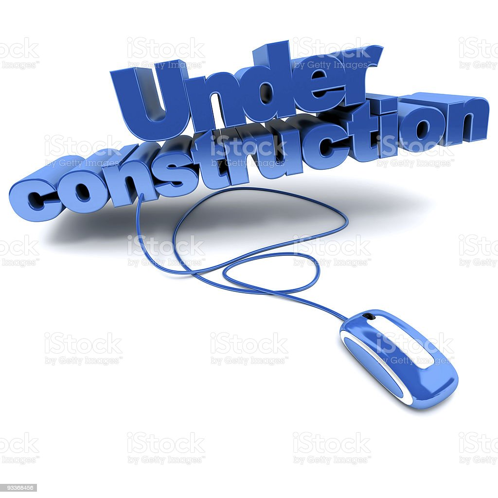 Web Under construction in blue stock photo