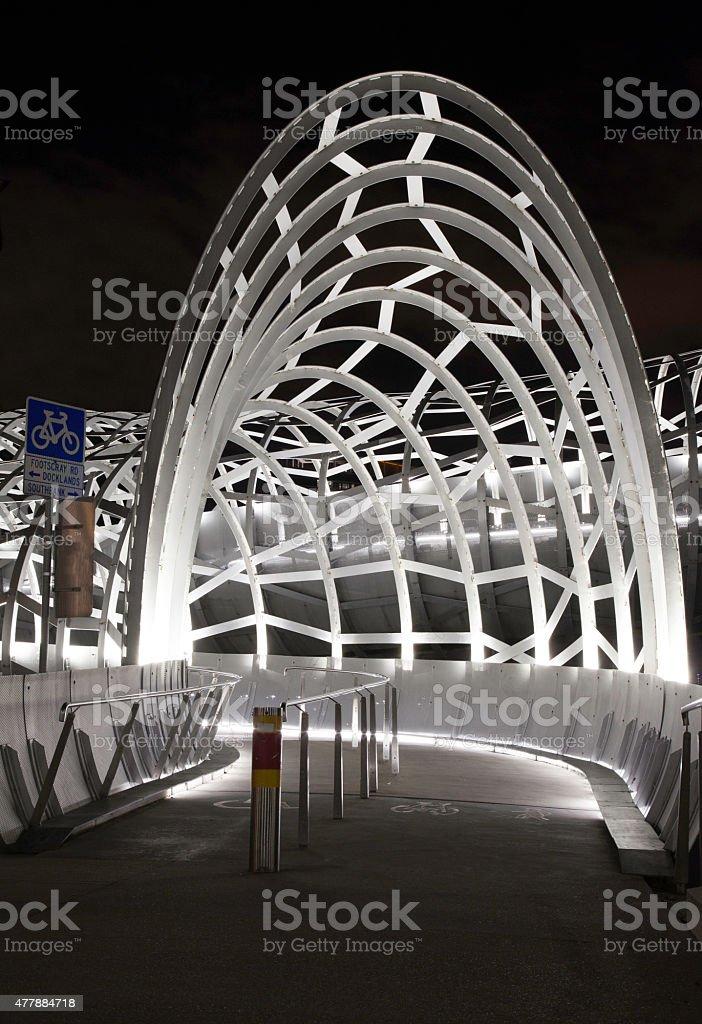 Webb Bridge at night stock photo