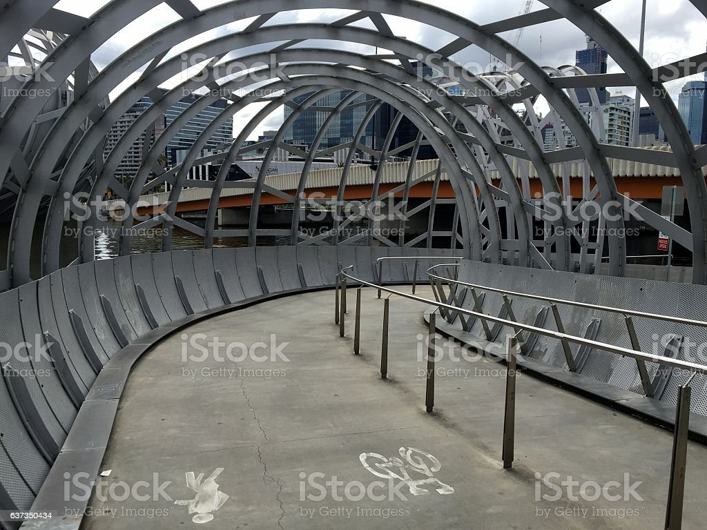Webb bridge in Melbourne stock photo
