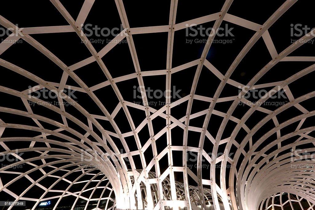 Webb Bridge, Melbourne, Australia stock photo