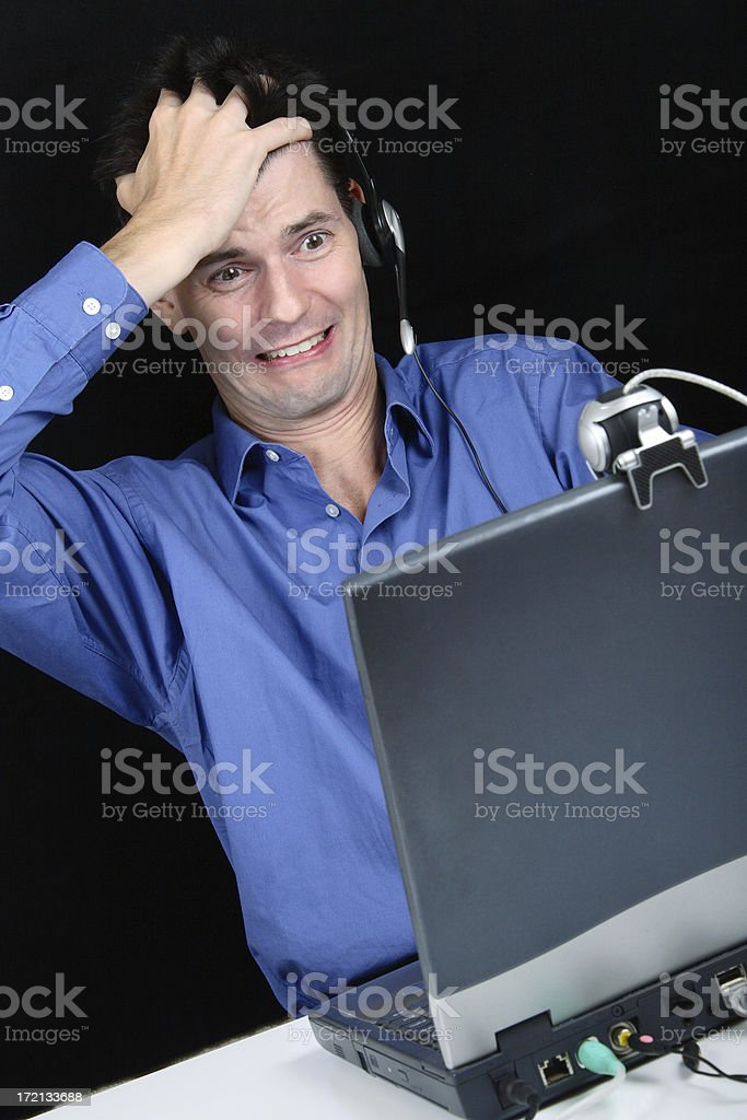 Webcam Disaster royalty-free stock photo