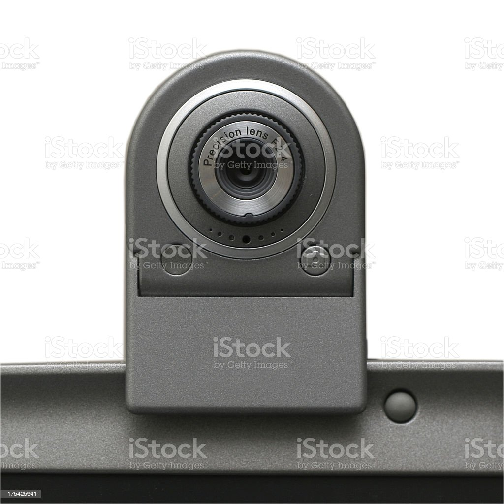 USB Webcam (isolated on white, clipping path) royalty-free stock photo