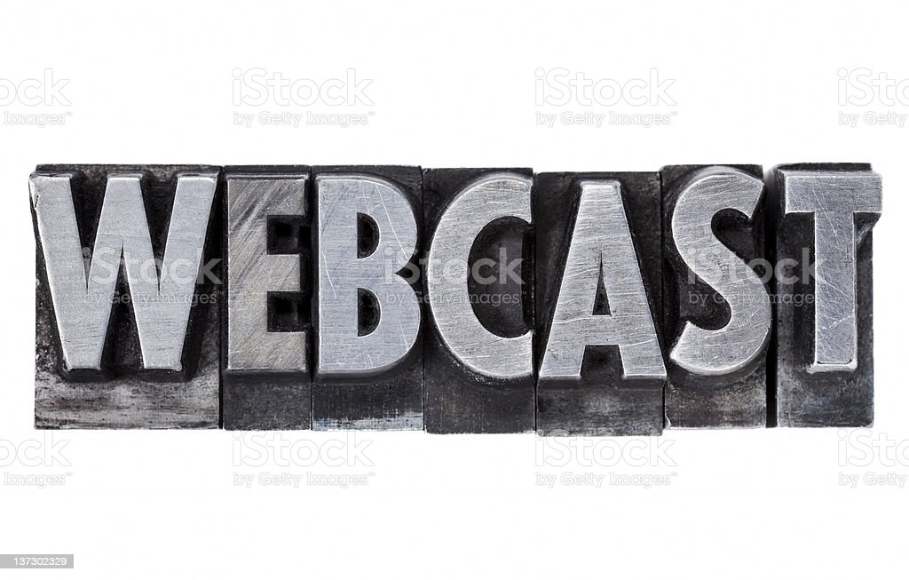 webcast - internet education and broadcasting royalty-free stock photo