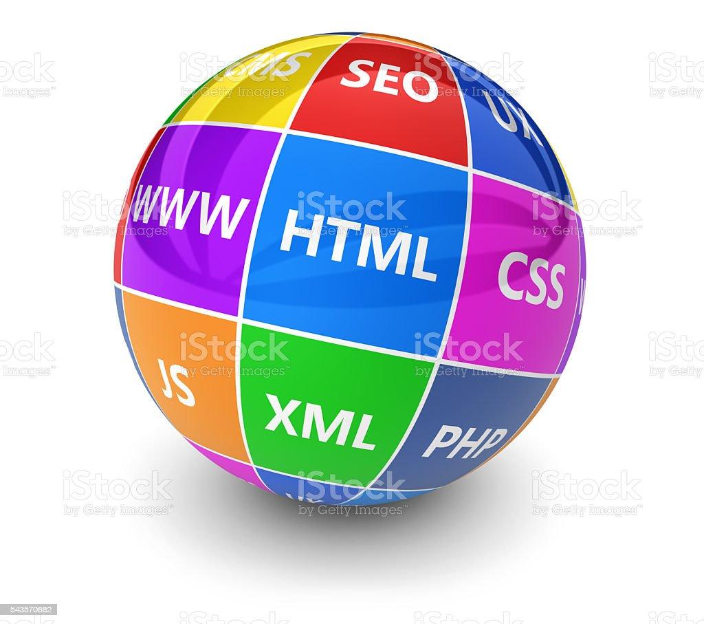 Webdesign Internet Development Concept stock photo