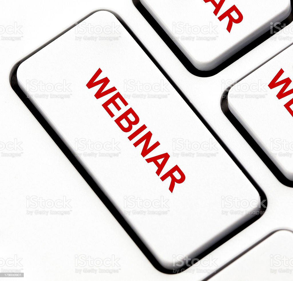 Webinar button on keyboard royalty-free stock photo