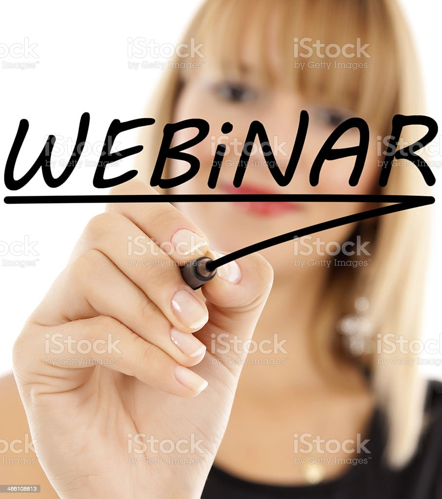 webinar royalty-free stock photo