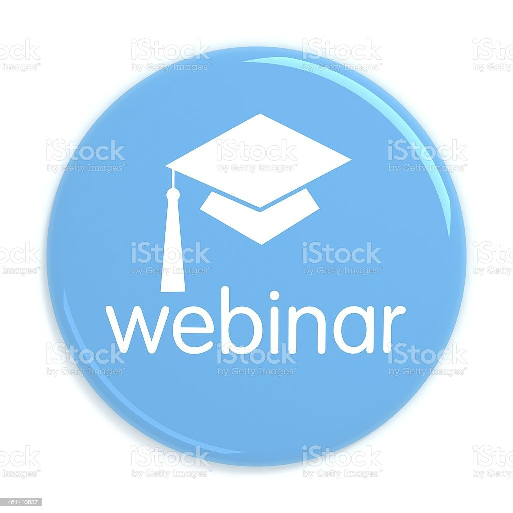 Webinar web seminar badge royalty-free stock photo