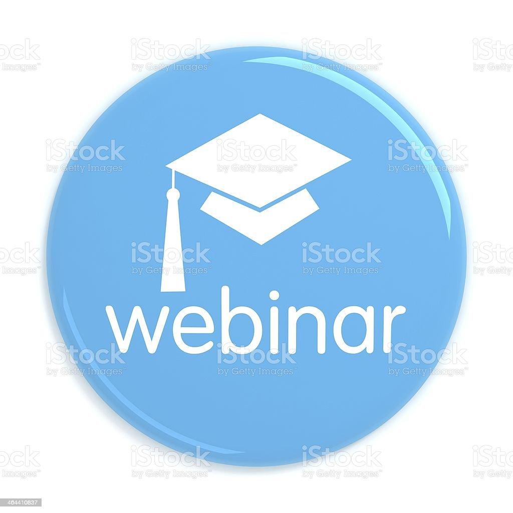 Webinar web seminar badge stock photo