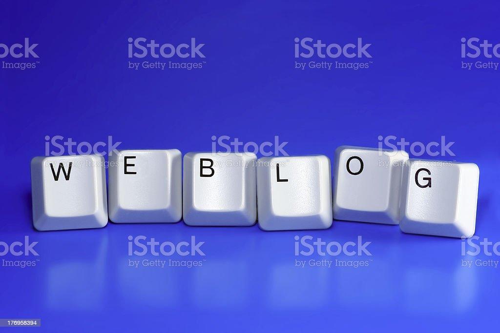 weblog - keyboard keys stock photo