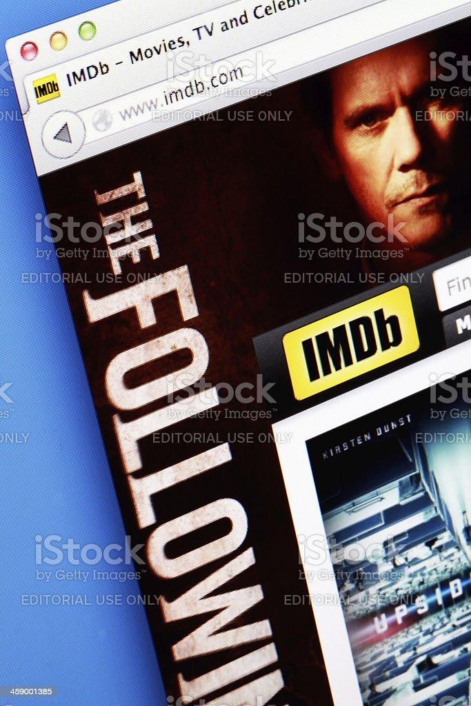 IMDB Webpage stock photo