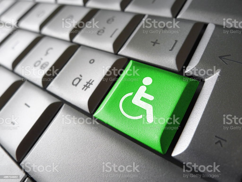 Website Accessibility Concept stock photo