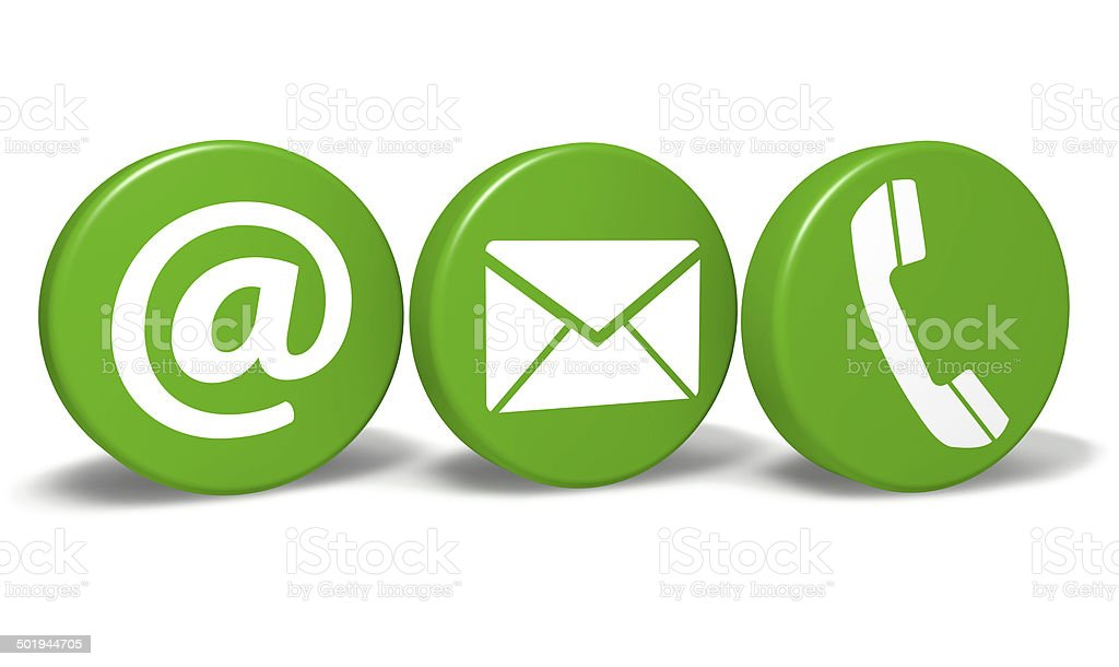 Website Contact Green Icons stock photo