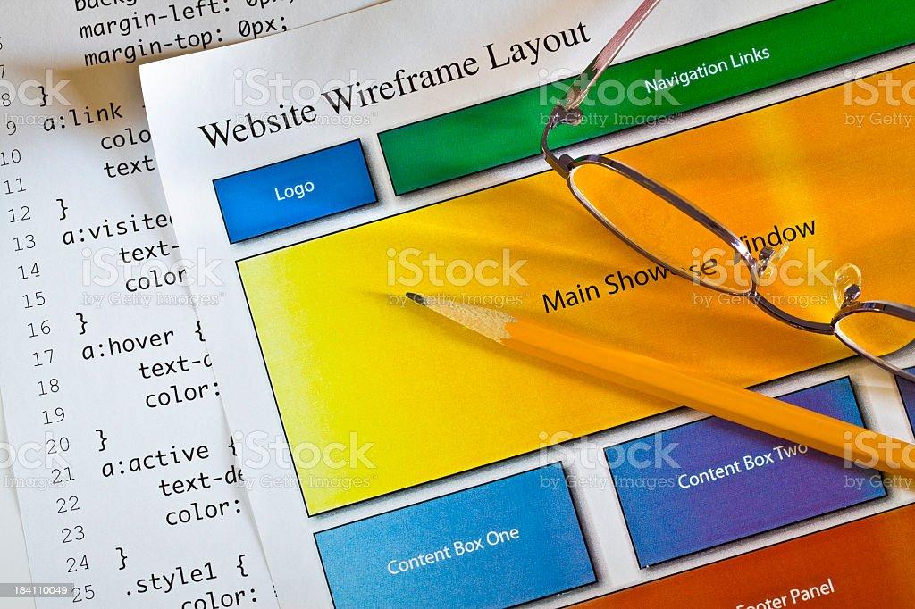 Website design royalty-free stock photo