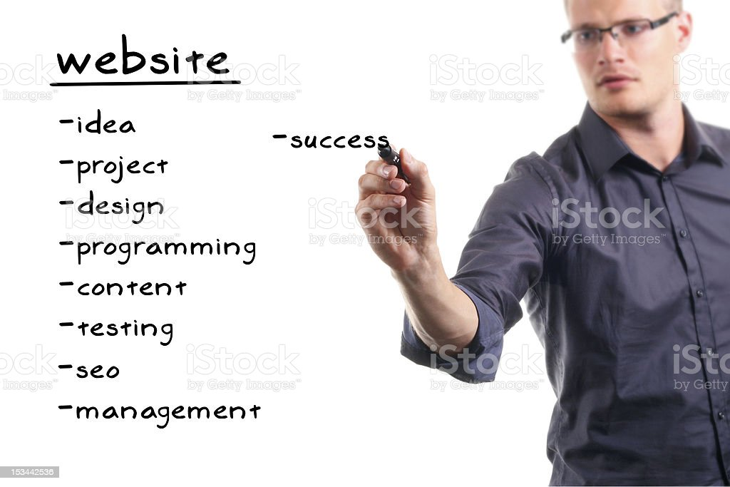 website development project royalty-free stock photo