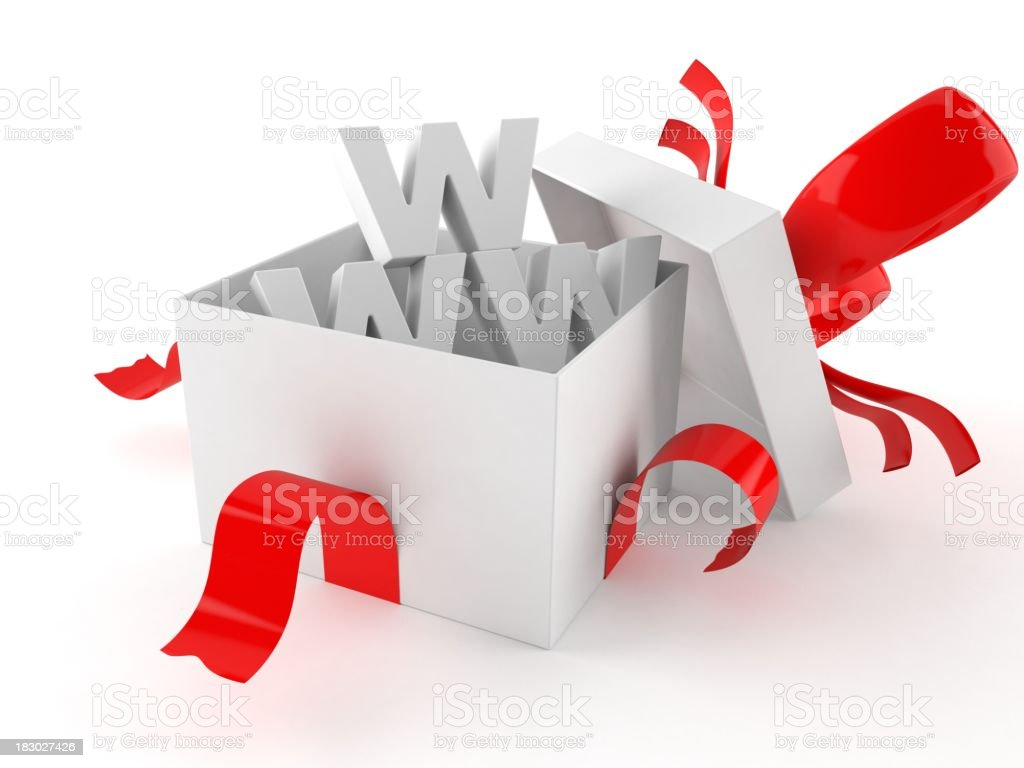 Website gift royalty-free stock photo